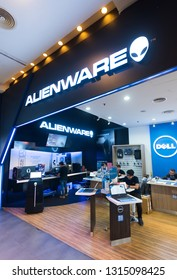 KUALA LUMPUR - MARCH 13, 2017: Alienware store in Plaza Low Yat. Alienware is a computer hardware subsidiary of Dell, an American multinational information technology corporation.