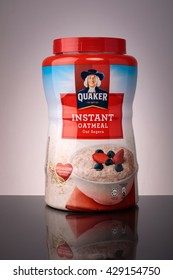 KUALA LUMPUR -May 30, 2016: Quaker Original Oatmeal. The Quaker Oats Company is an American food conglomerate based in Chicago. It has been owned by PepsiCo since 2001.