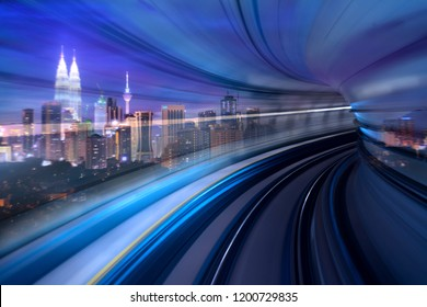 Kuala Lumpur Morden city and smart transportation concept photo