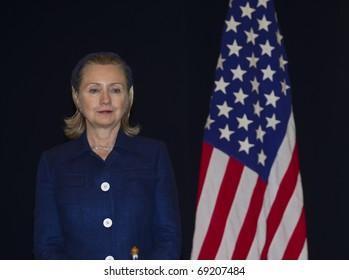 KUALA LUMPUR - NOV. 11 : U.S. Secretary of State Hillary Clinton visits Kuala Lumpur, Malaysia on November 11, 2010.