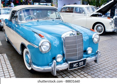 KUALA LUMPUR - NOVEMBER 13: A Mercedes 220S on display at the Asia Klasika Malaysia International Vintage & Classic Car Concours during COTY2U Autoshow on November 13, 2011 in Kuala Lumpur, Malaysia.
