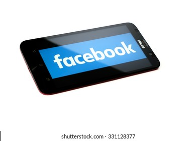 KUALA LUMPUR - OCTOBER 25,2015.vFacebook the largest social network in the world. It was founded in 2004 by Mark Zuckerberg and his roommates during training at the Harvard University.