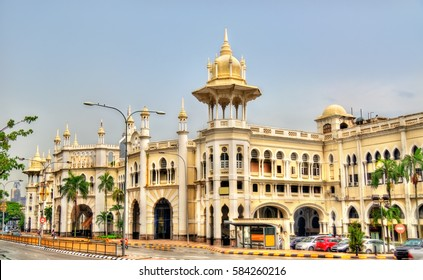 Kuala Lumpur old railway station in Malaysia. Built in 1910 in the unique Anglo-Asian architecture style