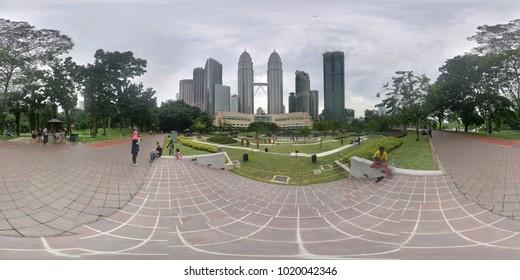 Kuala Lumpur, Selangor / Malaysia - Jun 05 2017: HDRI shots of KLCC PARK