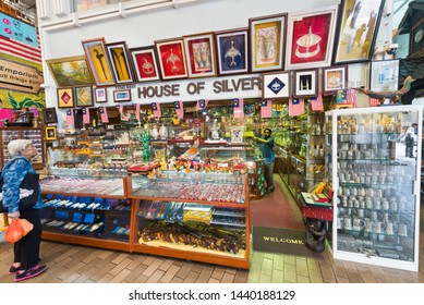 KUALA LUMPUR - SEPT 12, 2017: House of Silver store at Central Market. It was founded in 1888 and used as a wet market while the current Art Deco style building was completed in 1937