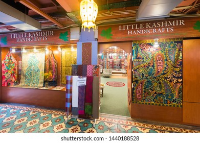 KUALA LUMPUR - SEPT 12, 2017: Little Kashmir handicrafts store at Central Market. It was founded in 1888 and used as a wet market while the current Art Deco style building was completed in 1937