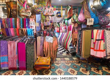 KUALA LUMPUR - SEPT 12, 2017: A souvenir store at Central Market. It was founded in 1888 and used as a wet market while the current Art Deco style building was completed in 1937