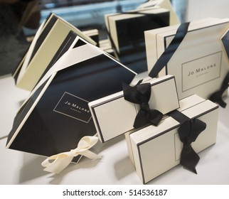 KUALA LUMPUR - SEPT 13, 2016: Jo Malone London store showcase in the Suria KLCC mall. Jo Malone London is a British perfume and scented candle brand, owned since 1999 by Estee Lauder.