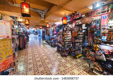 KUALA LUMPUR - SEPTEMBER 2017: A passageway of the Central Market. It was founded in 1888 and originally used as a wet market while the current Art Deco style building was completed in 1937