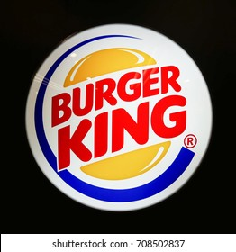 KUALA LUMPUR - SEPTEMBER 4, 2017: BURGER KING logo signage. BURGER KING is the second largest fast food hamburger chain in the world.