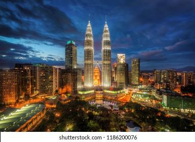 Kuala Lumpur Skyline Malaysia taken in 2015