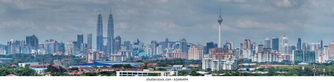 Kuala Lumpur skyline panoramic view