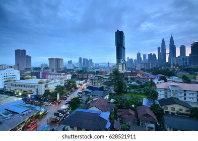 Kuala Lumpur view during sunrise after the rain. Photo dated 21st of April, 2017