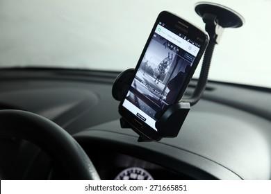 Kuala Lumpur,Malaysia 9th April 2015,Uber is smartphone app-based transportation network
