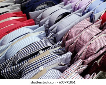 KUALA LUMPUR,MALAYSIA - APRIL 18, 2017 : Long sleeve shirts  in a shopping mall