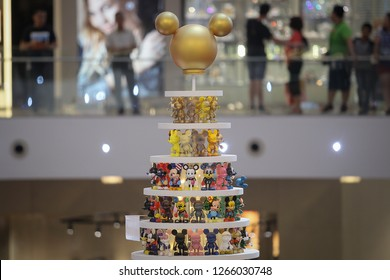 KUALA LUMPUR/MALAYSIA - December 24 : Mickey Mouse's Christmas exhibition showcased at Pavillion Bukit Bintang shopping center in conjunction with the 90th anniversary of the cartoon and Christmas.