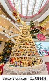 Kuala Lumpur,Malaysia - December 29,2018 : Magical Mickey Tree with 1,000 specially designed Mickey figurines Christmas decoration in Pavilion Kuala Lumpur.