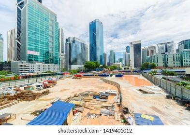 Kuala Lumpur,Malaysia - June 7,2019 : Scenic view of the city development in Kuala Lumpur,Malaysia.