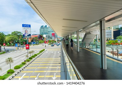 Kuala Lumpur,Malaysia - June 7,2019 : Scenic view of the cityscape in Kuala Lumpur,Malaysia.