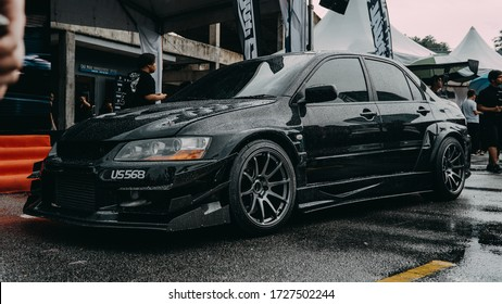 Kuala Lumpur,Malaysia - March 07 2020: Mitsubishi Lancer Evolution