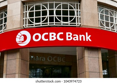 Kuala Lumpur,Malaysia - March 11th,2018 : OCBC Bank is a publicly listed financial services organisation with its head office in Singapore.