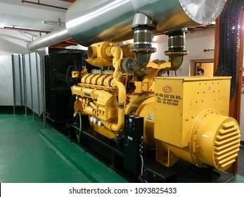 Kuala Lumpur,Malaysia May 19 2018 : Diesel generator building