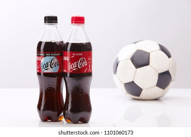 kuala lumpur,malaysia - May 28, 2018 : special edition of coca cola bottle  in FIFA World Cup 2018 in Russia from 14 June - 15 July 2018.