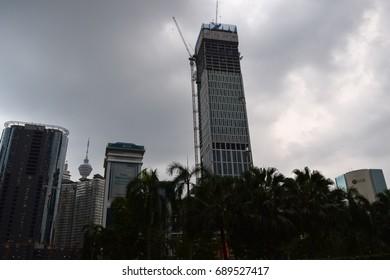 KUALA LUMPUR/MALAYSIA - SEPTEMBER 10 2016: Kuala Lumpur centre. The capital of Malaysia