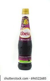 KUALA LUMPUR,MALAYSIA-AUGUST 14,2017: Ribena is an English origin brand of blackcurrant-based uncarbonated and carbonated soft drink and fruit drink concentrate was produced by GlaxoSmithKline (GSK).