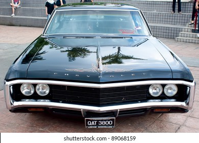 KUALA LUMPUR-NOV 13: A Chevrolet Impala on display at the Asia Klasika Malaysia International Vintage & Classic Car Concours during COTY2U Autoshow on November 13, 2011 in Kuala Lumpur, Malaysia