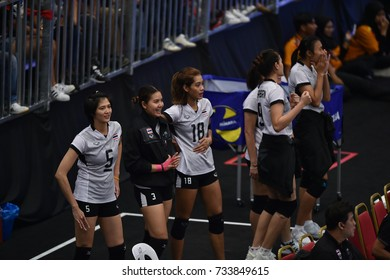 Kualalumpur-Malaysia-27aug2017:Player of thailand national team in action during competition female volleyball 29th SEAgames between thailand and indonesia at mitec,malaysia