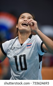 Kualalumpur-Malaysia-27aug2017:Wilavan Apinyapong player of thailand in action during competition female volleyball 29th SEAgames between thailand and indonesia at mitec,malaysia