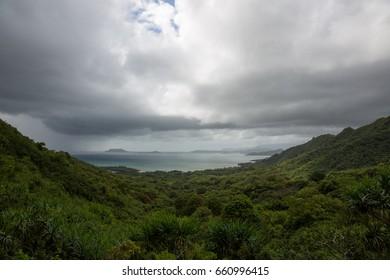 Kualoa Ranch in Oahu Island, Hawaii.