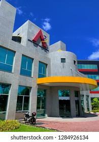 Kualu Lumpur, Malaysia - January 14, 2019 :  All Asia Broadcast Centre (ASTRO) building located in Bukit Jalil, Malaysia.