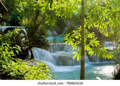 Kuang Si Falls close to Luang Prabang in Laos