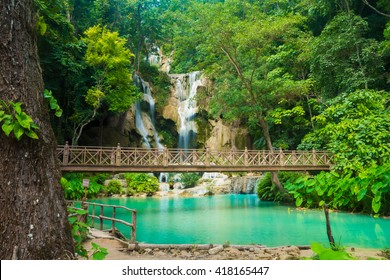 Kuang Si Waterfall in Luang Prabang, Laos