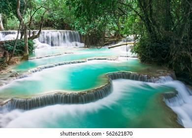 Kuang si waterfall in Luang prabang,Laos.