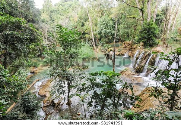 Kuang Si waterfall near  Luang Prabang on Laos