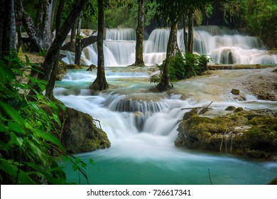 Kuang Si waterfall and pool in Luang Prabang, Laos