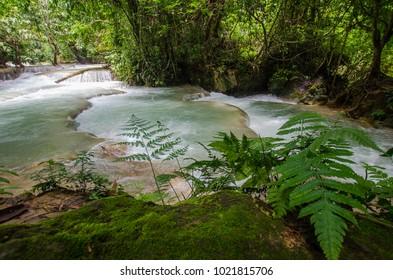 Kuang Si Waterfalls, Luang Phrabang, Laos.