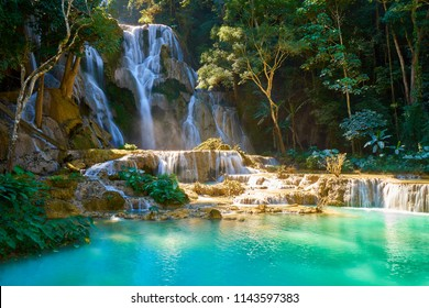 Kuang Si Waterfalls in Luang Probang Laos