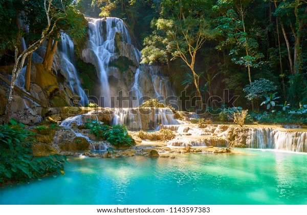 Kuang Si Waterfalls in Luang Probang Laos