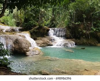 Kuang Si Watetfall near Luang Prabang - Laos