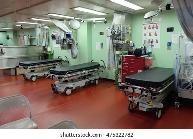 KUANTAN, MALAYSIA - AUGUST 10 : Inside USNS Mercy which anchoring at  Kuantan Port on August 10, 2016.The third USNS Mercy is the lead ship of her class of hospital ships in the United States Navy.