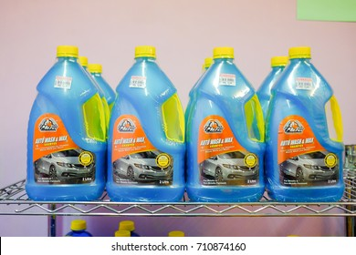 Kuantan , Malaysia - August 28th, 2017 : Shampoo for car wash in the store at The Parkson Supermarket , Kuantan.