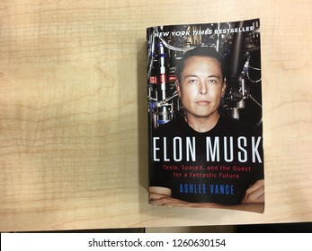 KUANTAN, MALAYSIA- December 17, 2018: New York best seller, ELON MUSK - Tesla, SpaceX, and the Quest for a Fantastic Future