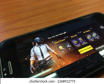 Kuantan, Malaysia - Disember 28, 2018: PUBG Mobile is a Online Multiplayers Games Apps.