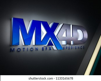KUANTAN, MALAYSIA- July 13, 2018: MX4D motion efx experience in MBO Cinema Kuantan. MX4D is a sound and display technology for best experience to watch movie
