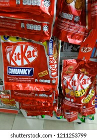 Kuantan, Malaysia - October, 2018: One of the famous Nestlé product, KitKat Chunky.