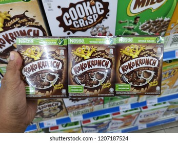 KUANTAN PAHANG AUGUST 28 2016 : Produced by Nestle, Koko Krunch made with whole grain. Nestle is the world's leading nutrition, health and wellness company